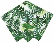 Talking Tables Tropical Fiesta, Leaf Cocktail Paper Napkins, Green, 25cm 20 pac