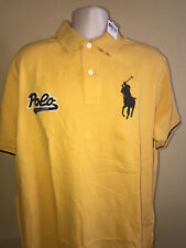 New Ralph Lauren Polo Signature Polo Shirt Yellow Navy or Purple Men Big & Tall