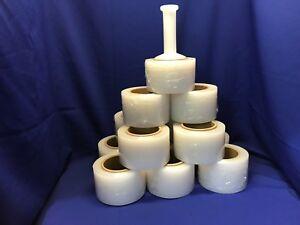 """6 Rolls Stretch Plastic Wrap 3"""" x 1000' x 80ga Stretch Wrap / Stretch Film"""
