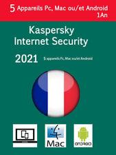Kaspersky Internet Security 2021 Français + UE 5 Appareils 1 AN envoi par Émail
