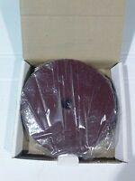 "LW0021-1 Tuff-Grit 9/"" x 7//8/"" 24 Grit Zirc Resin Fiber Discs Pack of 25"