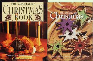The AUSTRALIAN CHRISTMAS BOOK HC/DJ + Family Circle BIG BOOK of CHRISTMAS