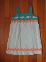 Lilly Pulitzer girls linen SUN DRESS SHIRT Size 6 blue pink orange fish tank top