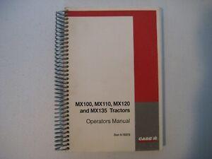 New Case IH MX100,MX110,MX120,MX135 Tractors Operator's Manual 9-78373