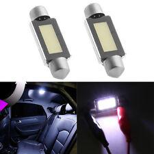 2X 39MM 4W COB White Festoon Dome Map 6 LED Light Lamp Car Bulb DC 12V