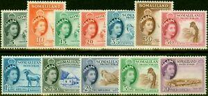 Somaliland 1953-58 Set of 12 SG137-148 Fine Lightly Mtd Mint