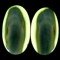 25.60Cts. 15X25X4mm. 100% Natural Imperial Jasper Oval Pair Cab Loose Gemstone