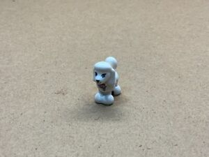 Lego poodle Dog Pet in white x1