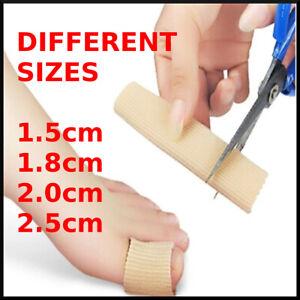 Toe Separator Sleeves Silicone Gel Cushion Tube Corns Pain Relief Finger Pad UK