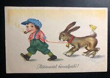1938 Jäneda Estonia Picture Postcard cover to Aegviidu Happy easter Rabbit