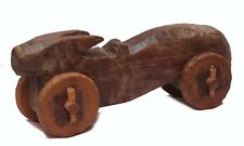 Indian Old Vintage Hand Carved Decorative Wooden Toy Game Nandi Statue  WD 157