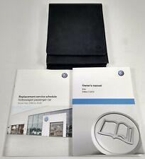 GENUINE VW EOS LEATHER OWNERS MANUAL HANDBOOK SERVICE SCHEDULE BOOK PACK WALLET