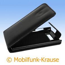 Flip Case Etui Handytasche Tasche Hülle f. LG P700 Optimus L7 (Schwarz)