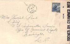 BS187 1942 Canada WW2 Newfoundland US NAVAL BASE *Argentia* CDS Censor Cover USA