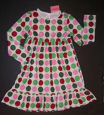 NWT Gymboree Christmas Sleepwear XS 3-4 Holiday Polka Dot Gown Nightgown Pajamas