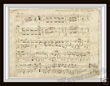 Wall Art Chopin's Polonaise  A-flat major Op. 53 Music Sheet Written 1842 11x14