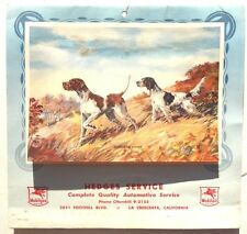 Vintage 1953 MOBILGAS Advertising Season Greetings Calendar W/ Recipes & Tips