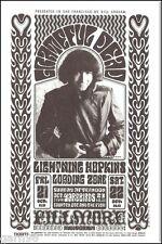 Grateful Dead Garcia Yardbirds Lightning Hopkins BG Fillmore Concert Handbill PC