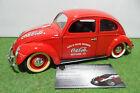 VOLKSWAGEN COCCINELLE COCA COLA rouge au 1/17 no 1/18 d SOLIDO voiture miniature