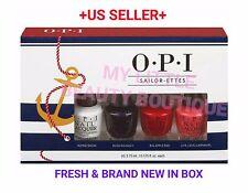 OPI SAILOR ETTES Minis NAUTICAL 4 pcs New Summer Color Shade 3.75ml each BNIB