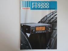 FOLLETO Original Yaesu FT-2200 FT-7200 (sólo)... radio _ trader _ Irlanda.