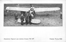 A8523) AVIAZIONE VIZZOLA TICINO 1912 AEROPLANO CAPRONI MOTORE ANZANI 70HP