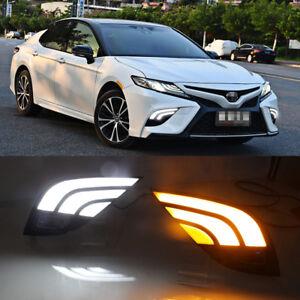 For Toyota Camry 2018-20 LED DRL Daytime Running Lights Fog Driving Lamp Cover