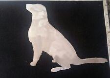 Dog sitting animal raw metal cutouts for wall garden yard craft projects