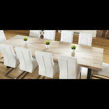 Oak Rectangle Modern Up to 12 Seats Kitchen & Dining Tables