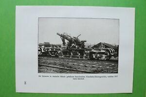 RWc) Soissons 1914-1918 Eisenbahn Klauengeschütz Frankreich (1926) 1.WK WWI