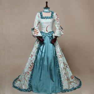 European Medieval Court Noble Victoria Queen Princess Wedding Party Formal Dress