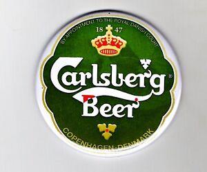 """Carlsberg Jumbo Fridge Magnet Beer Mat Bar Ale  3"""" 75mm Blade  Sub Badge lager"""