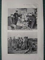 1914 WWI WW1 Stampa ~ Servire Forniture Esercito Servizio Corps Dept ~ UK