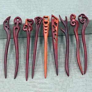 Vintage Hair Sticks Wood Chinese Style Chopsticks Hairpins Women Clips Headpiece