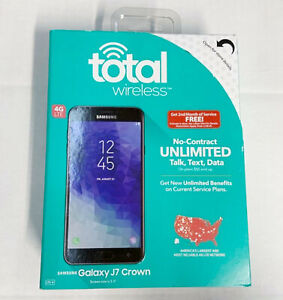 NEW Total Wireless Samsung Galaxy J7 Crown Prepaid 4G LTE Android Smart Phone