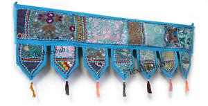 Indian Patchwork Toran Embroidery Door Valance Vintage Wall Hanging Decorative