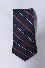 Yves Saint Laurent YSL Navy Blue & Red White Striped Men's Designer Neck Tie