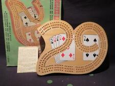 Deluxe Vintage 29 Hardwood Cribbage Board Imported by Sears with box & rules