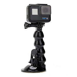 Flexible Suction Cup Mount Holder Arm for GoPro 9, YI, Hero6/5/5 Session & Phone