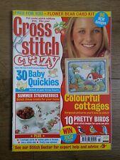 CROSS STITCH CRAZY MAGAZINE # 23 COTTAGES BABY QUICKIES PRETTY BIRDS STRAWBERRIE