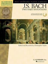 J.S. Bach Two-Part Inventions Schirmer Performance Ed. Book and Audio 000296463