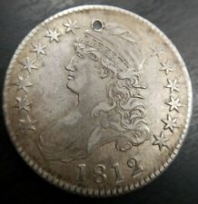 1812 Capped Bust Half Dollar 50C - Extremely Fine Details - Holed/Filled Rare
