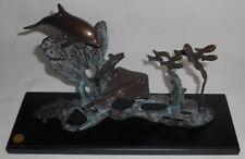 Spi San Pacific Int'l Bronze Sea Sculpture Dolphin/Turtle/StingRay/F ish Nice!