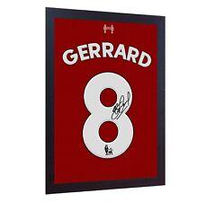Steven Gerrard signed autographed PRINTED on 100% COTTON Canvas FRAMED