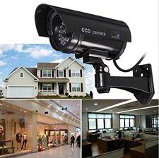 Fake Dummy Security Camera - LED light - CCTV Dummy Camera in Black