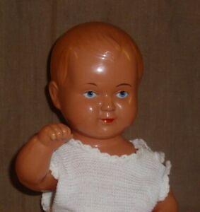 Celluloid Puppe Baby-gez. Storch 25-Schwäb. Celluloidwarenfabr.August Haidorfer