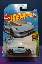 2020 Hot Wheels Lamborghini Sesto Elemento in Blue. HW Exotics 10/10. Long Card
