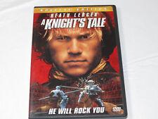 A Knights Tale DVD, 2001 Special Edition PG-13 Heath Ledger Mark Addy Paul Betta