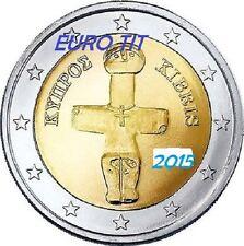 2 €   CHYPRE  LOT DE   1   X  PIECE     2015   NOUVEAU   NEUVE   /   disponible