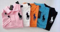 NWT Ralph Lauren Boys SS Big Pony Classic Solid Mesh Polo Shirt Sz 5 6 7 NEW $35